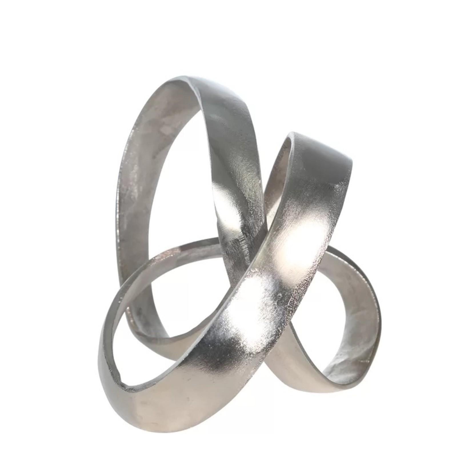 *Hyslop Aluminum Knot Sculpture - Silver