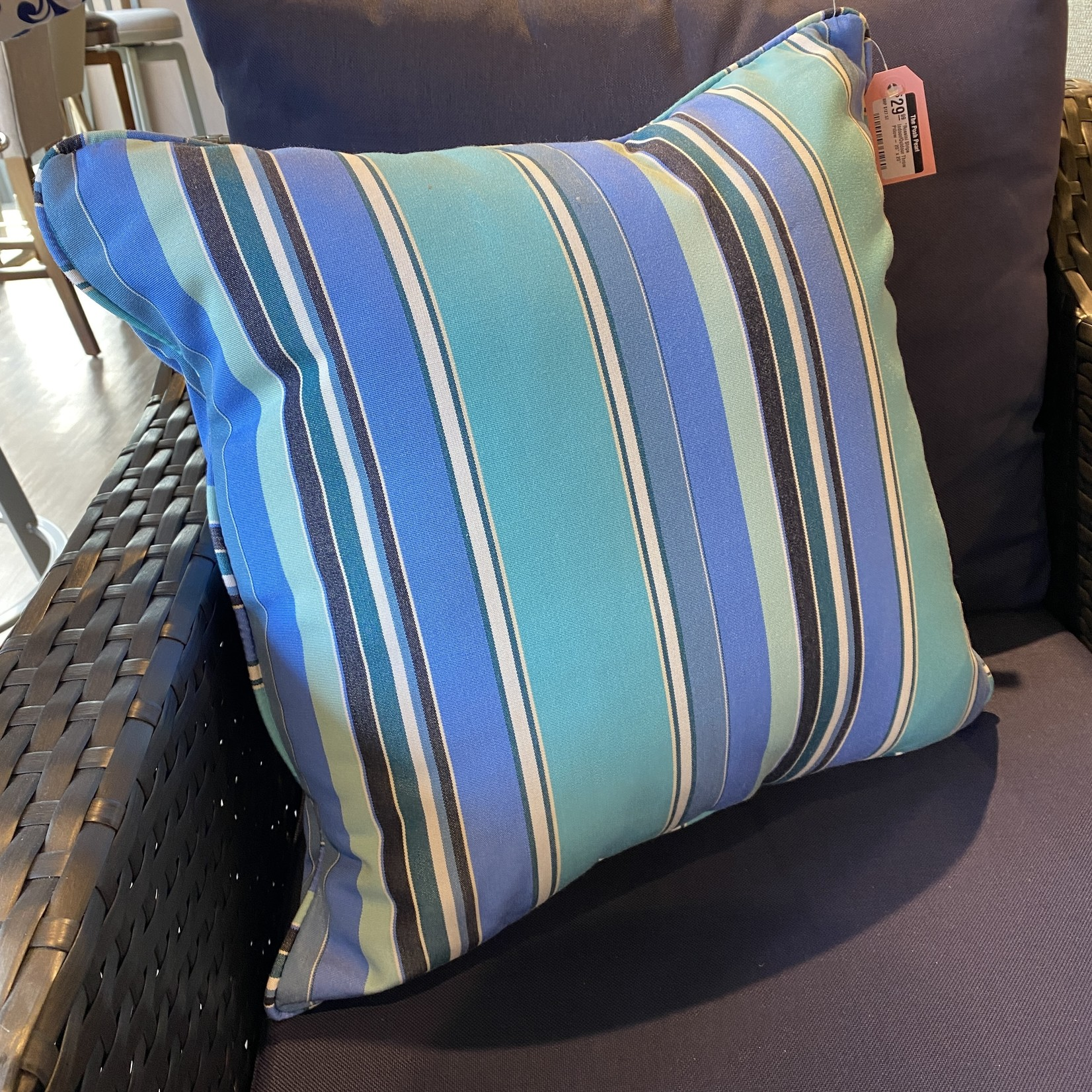 "*Rossini Stripe Indoor/Outdoor Throw Pillow - 20"" x 20"""