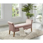*Pink Cargo Upholstered Flip Top Storage Bench