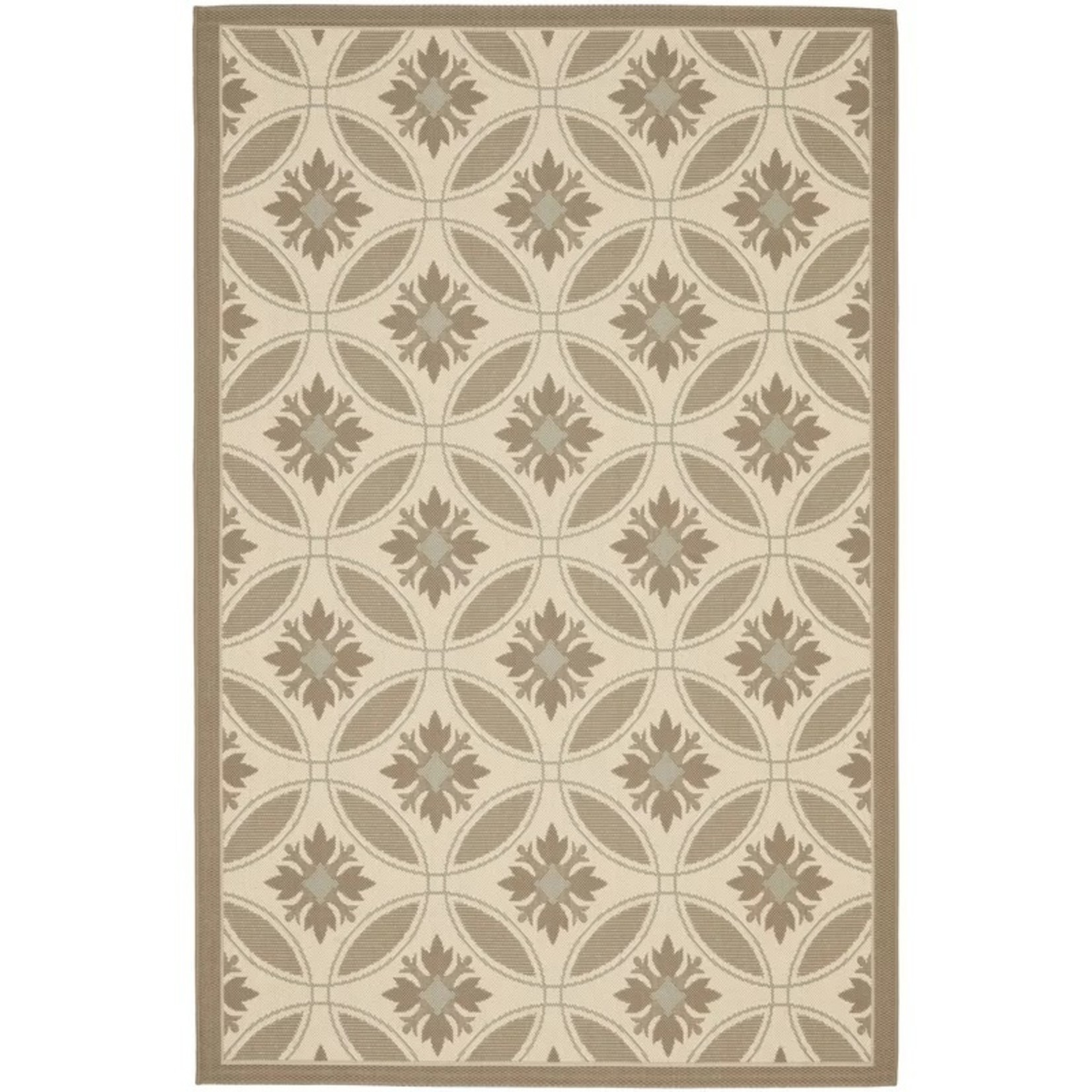 *8' x 10'2 - Herefordshire Floral Brown/Tan Indoor / Outdoor Area Rug