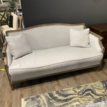 Sofa Oak Trim w/ 2 Cushions (Grey)