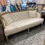 Sofa Tufted Back with Cushions (Cream)