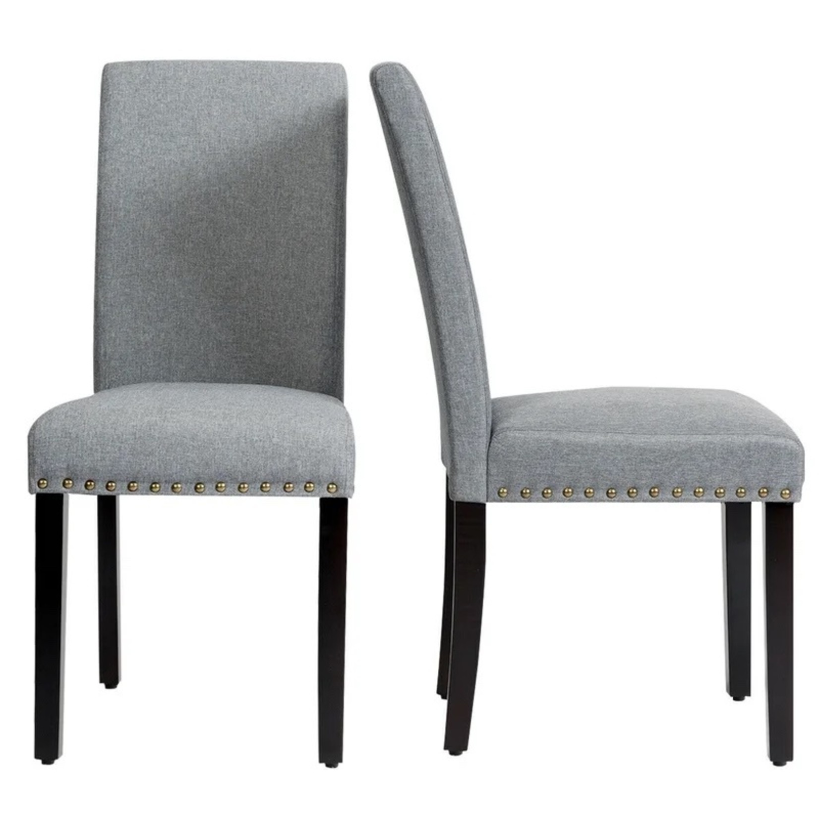*Langione Linen Upholstered Dining Chairs - Set of 2