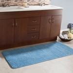 *Jacquard Fleece Long Multiple Memory Foam Non-Slip Bath Rug
