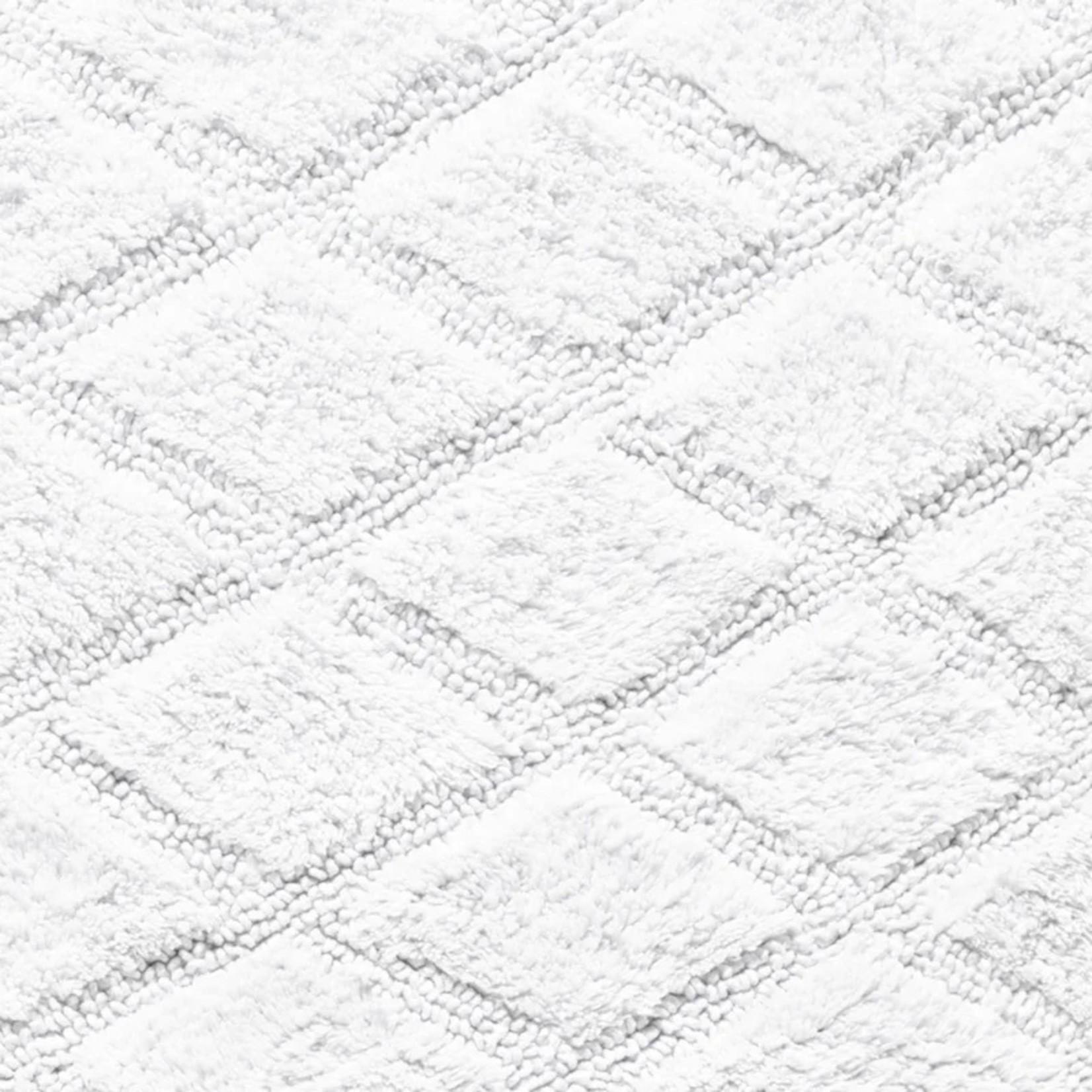 "*Tufted Diamond Rectangle 100% Cotton Reversible Geometric Bath Rug 21"" x 34"""