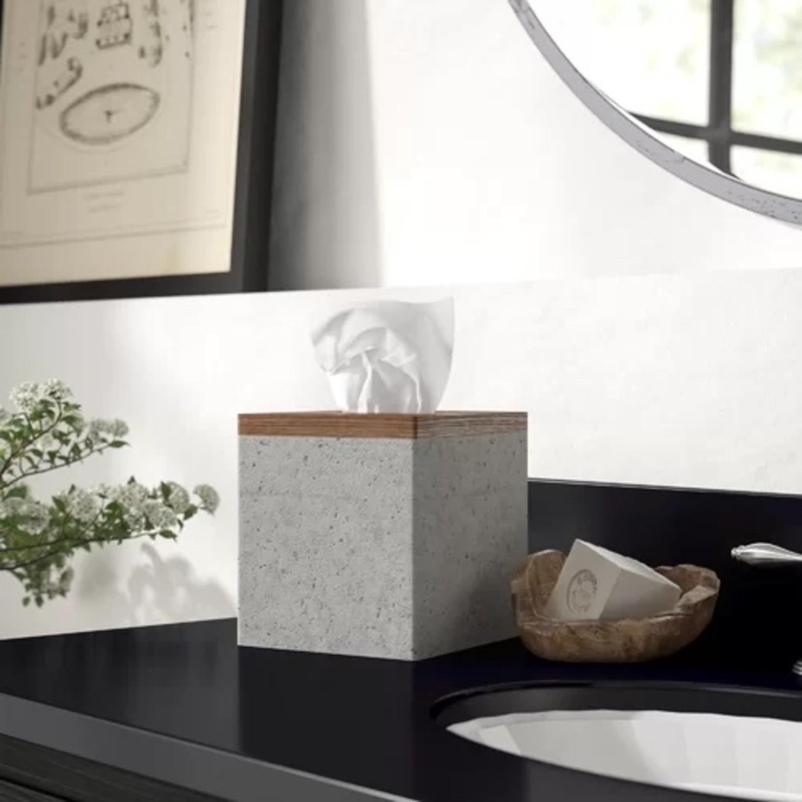 *Stonington Concrete Stone/Wooden Bathroom Accessories Set of 4