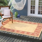 2' x 3'7 - Celia Natural/Terracotta Area Rug