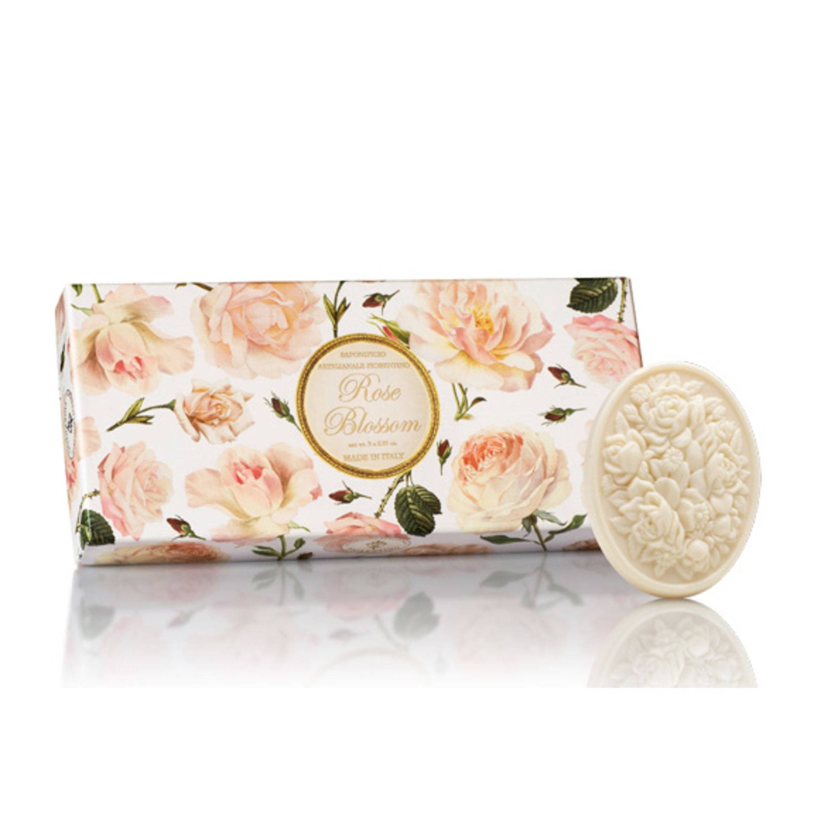 BOX SET 3 ROSE SOAPS - 125g/ea