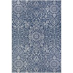 2' x 3'7 - Kraatz Handwoven Navy Blue/Ivory Indoor/Outdoor