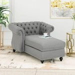 *Hankins Tufted Rolled Arms Chaise Lounge