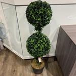 *Artificial Ball Podocarpus Topiary in Pot