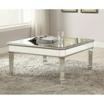 *Northerly Square Beveled Top Coffee Table - Missing mirror on edge/side damage