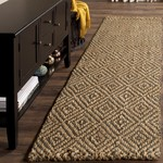 2'3 x 8' - Grassmere Geometric Flatweave Natural/Gray Jute