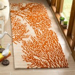 2'3 x 9' - Rudolph Hand-Tufted Wool Beige/Terracotta Runner