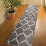 2'2 x 50' - Mazeppa Geometric Gray Stair Runner
