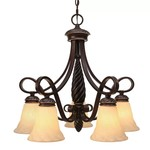 Hoopeston 5 - Light Shaded Classic Traditional Chandelier - FINAL SALE