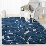 *6' x 9' - Cannock Dark Blue/Cream Rug