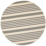 *7'10 Round  - Amalia Gray/Beige Indoor/Outdoor Area Rug
