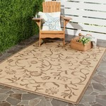 *6'7 x 9'6 - Swirling Garden Cream/Brown