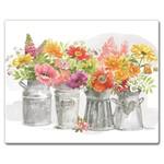 Large Glass Cuttingboard - Farmhouse Floral