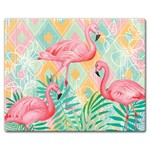 Large Glass Cuttingboard - Diamond Flamingo