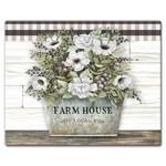 Large Glass Cuttingboard - Vintage Farmhouse