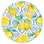 """Glass 13"""" Lazy Susan - Lovely Lemons"""