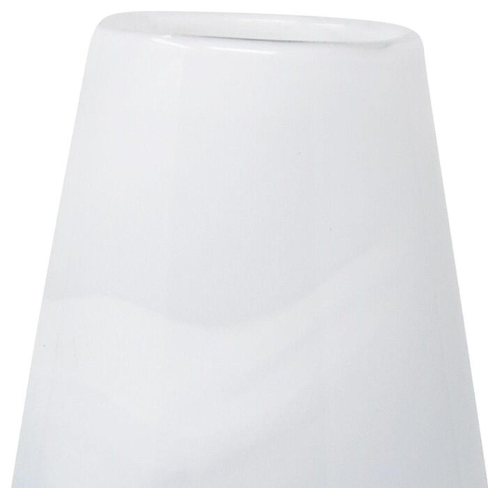 Gazit White/Blue 16.75'' Glass Table Vase