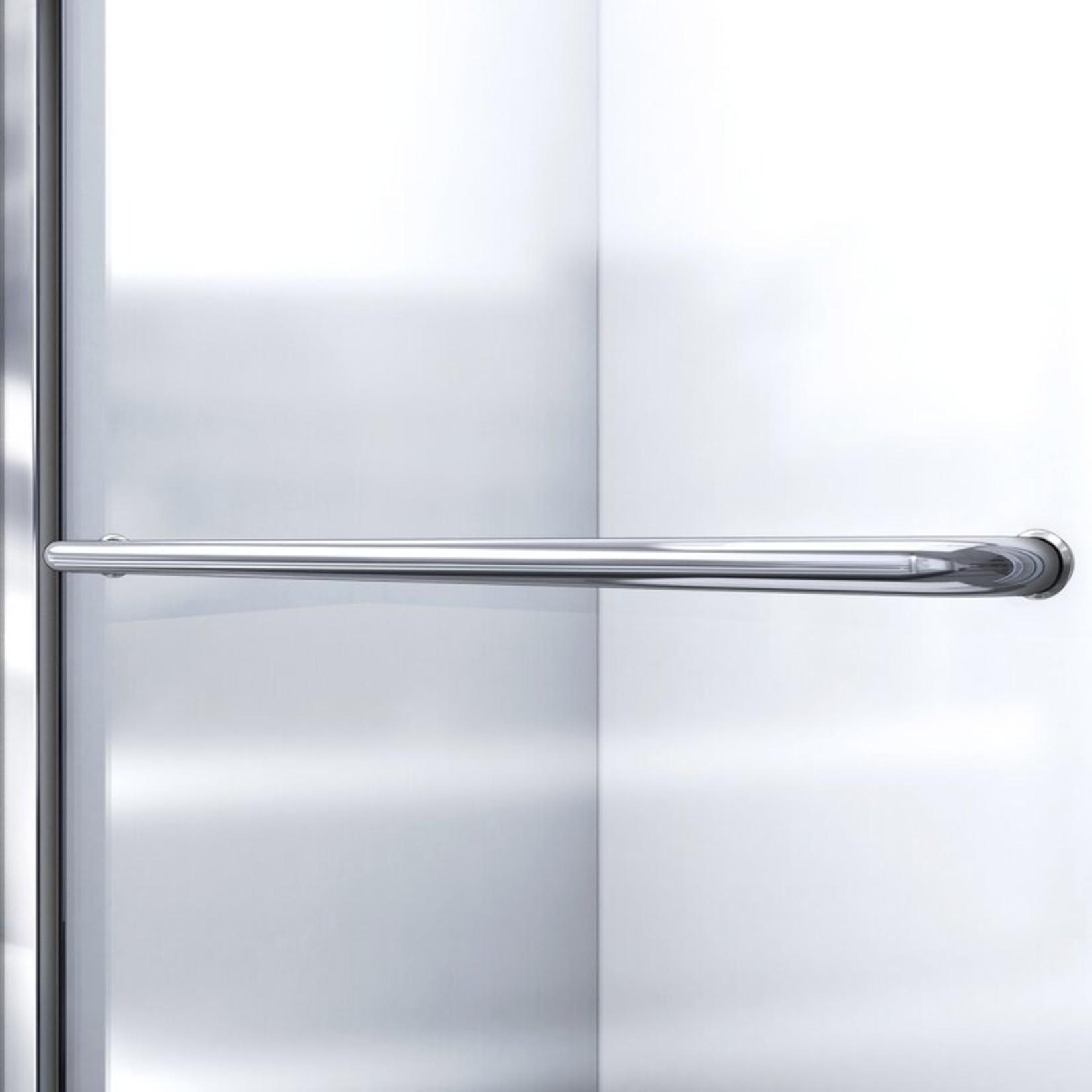 *Infinity-Z Single Sliding Semi-Frameless Tub Door with Clearmax Technology - Chrome