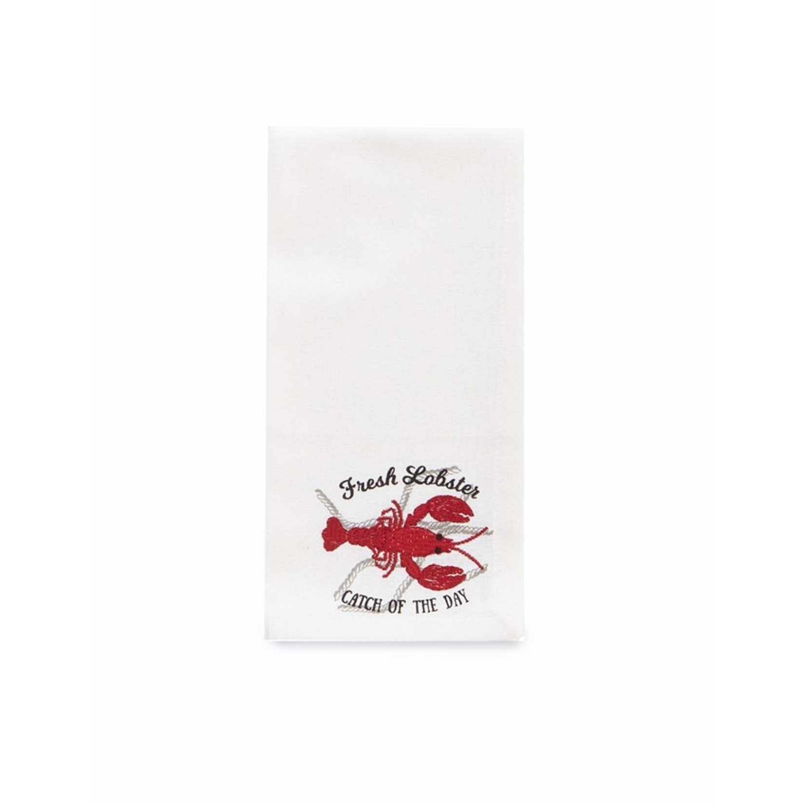 LOBSTER CATCH NAPKIN S4 RED - Set of 4