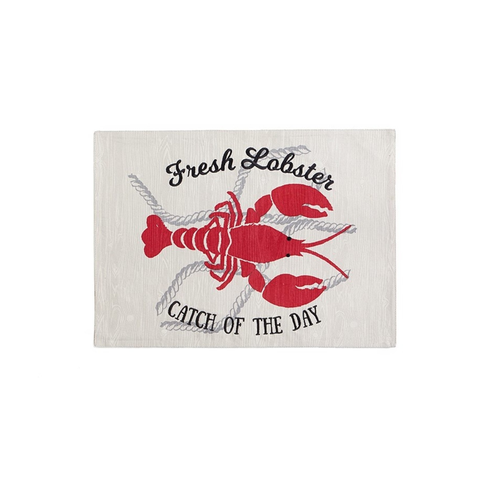 LOBSTER CATCH PLACEMAT RED