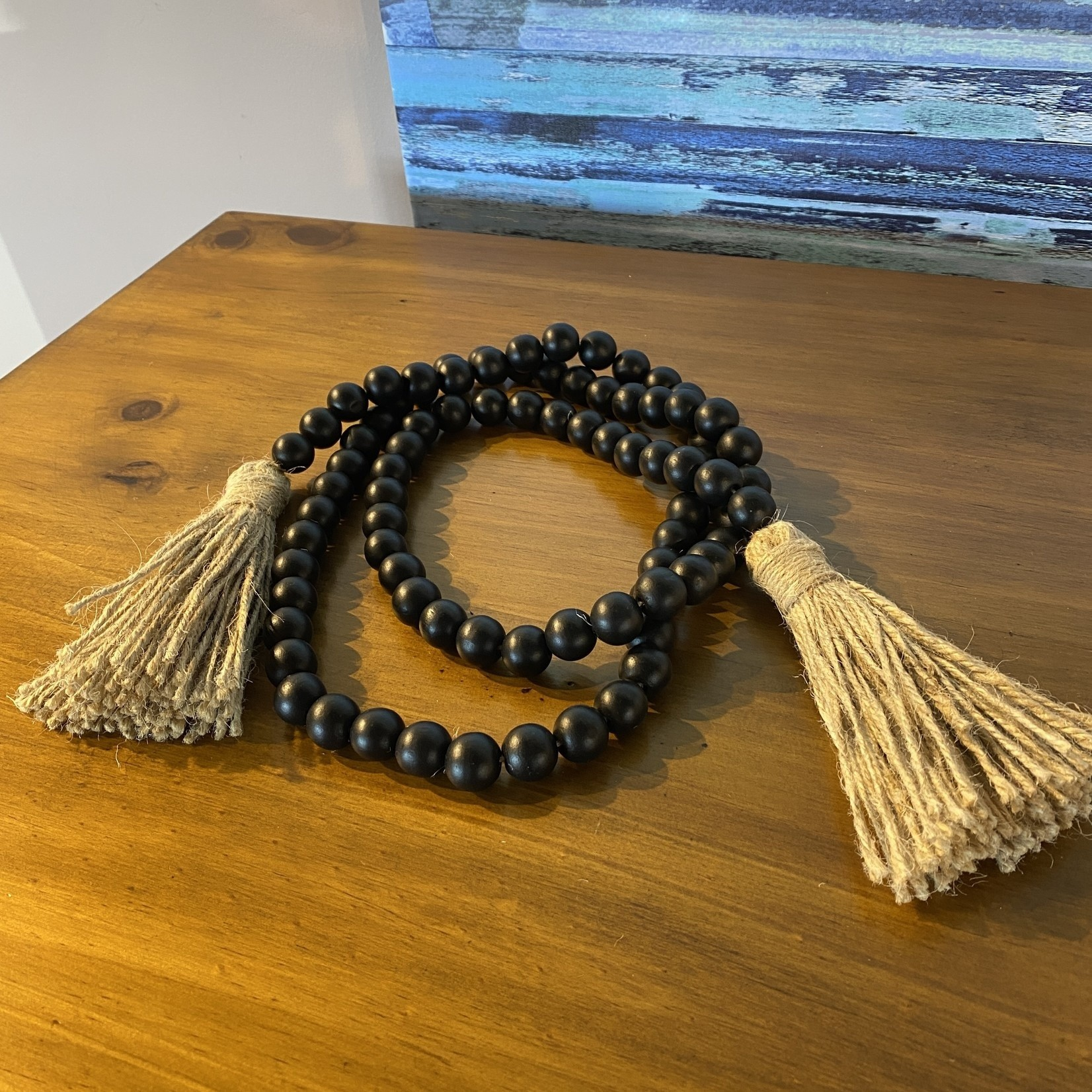 Wood Bead Decor - Black