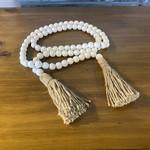 Wood Bead Decor - White