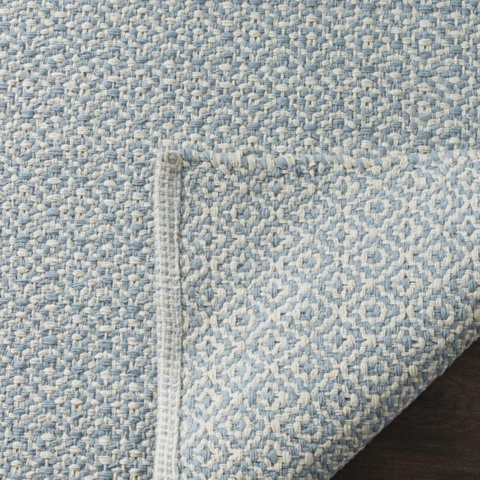 *8' X 10' - Jodi Geometric Handmade Flatweave Cotton Ivory/Light Blue Area Rug