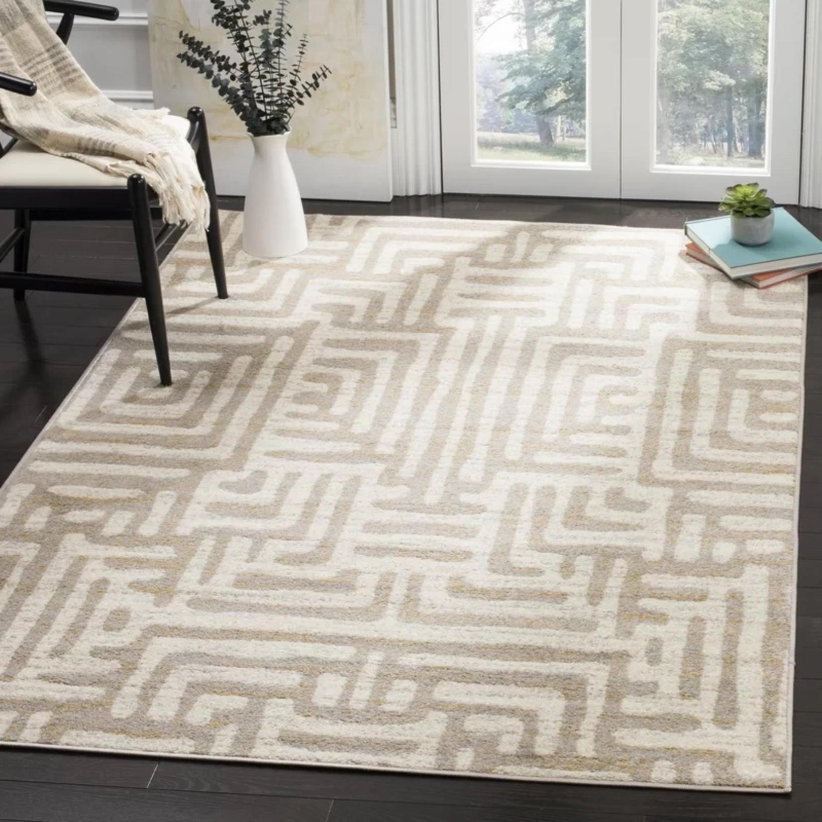 *9' x 12' - Vadim Geometric Ivory/Tan/Yellow Area Rug