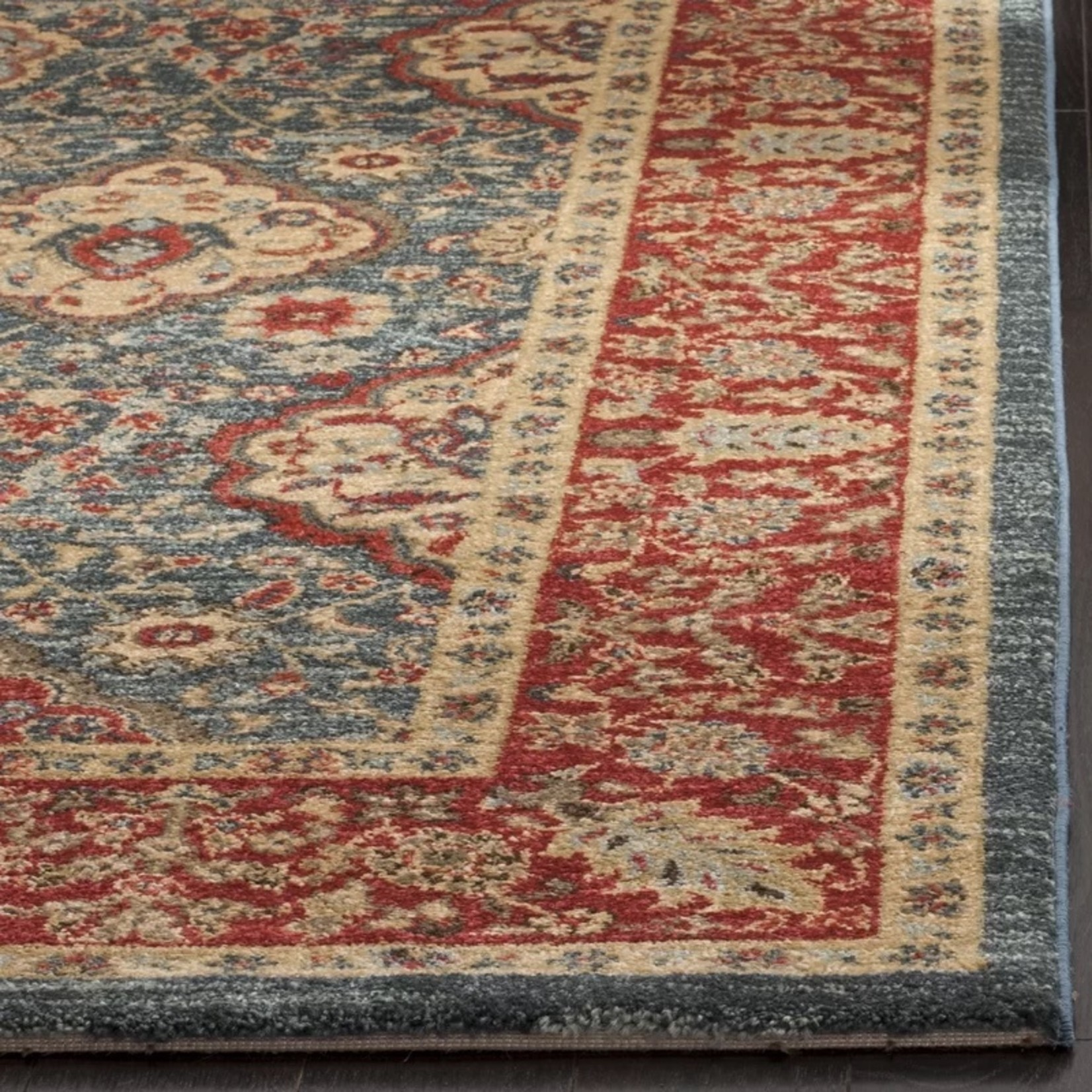 *6'7 x 9'2 - Pennypacker Oriental Navy/Red Area Rug