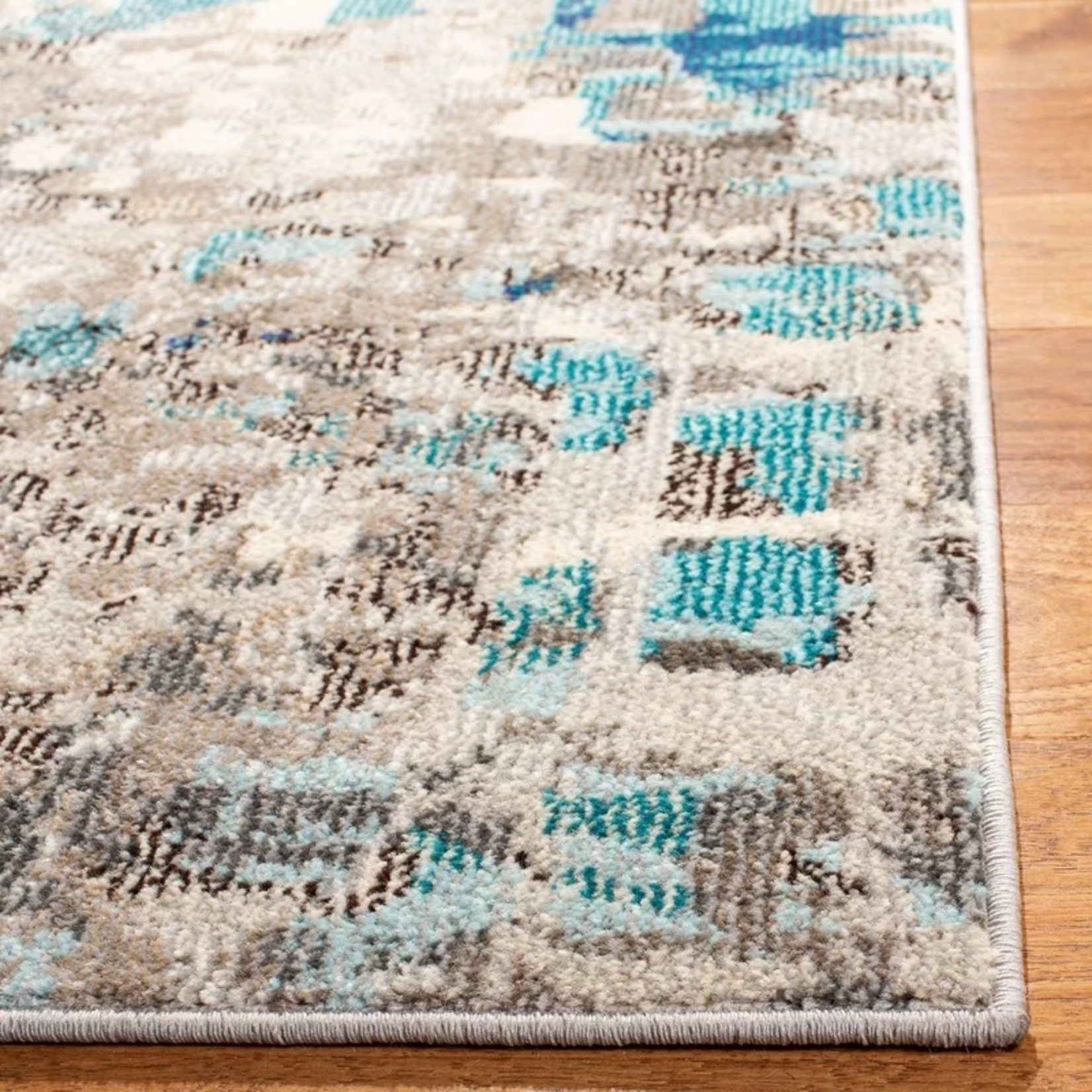 *9' Square - Pless Blue Area Rug - Dirt on back