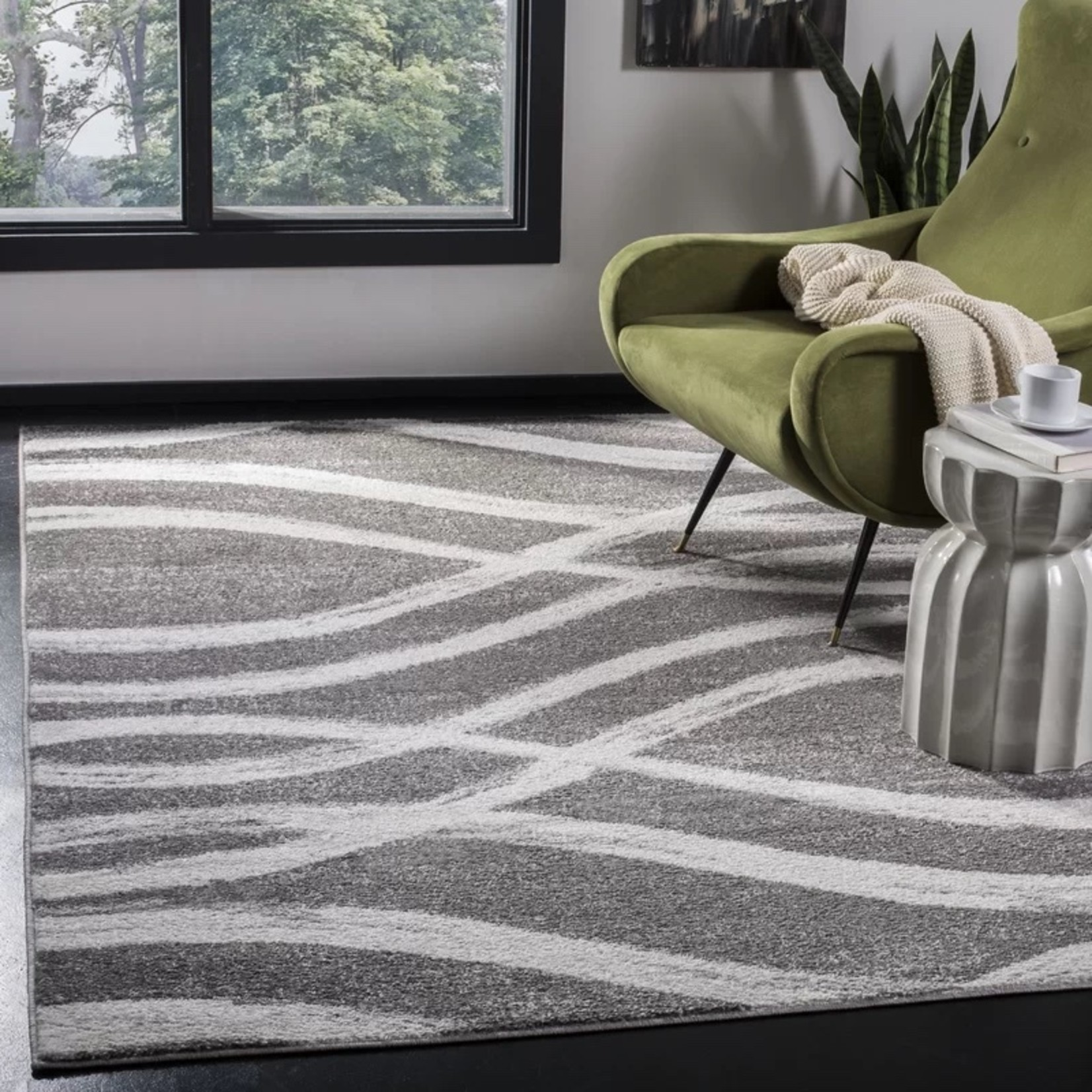 *6' Square - Graciano Ivory/Grey Area Rug