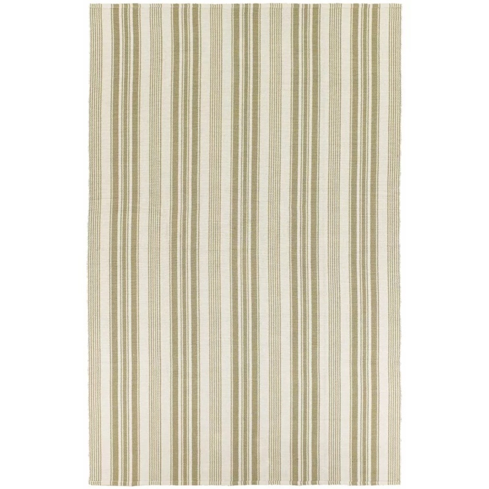 *8' x 10' - Artique Striped Handmade Flatweave Cotton Beige/Green Area Rug