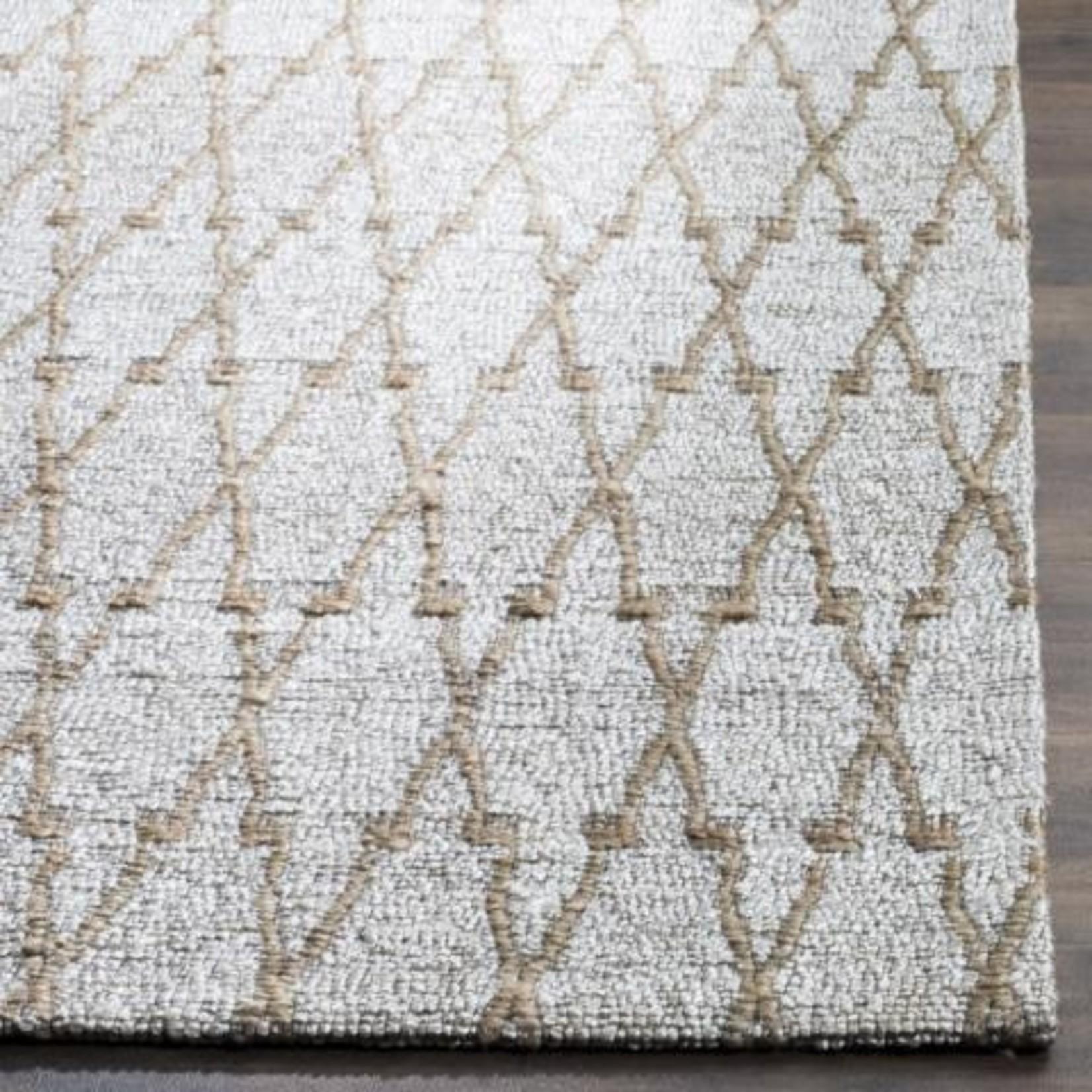*4' x 6' - Snavely Geometric Handmade Flatweave Silver/Natural Area rug