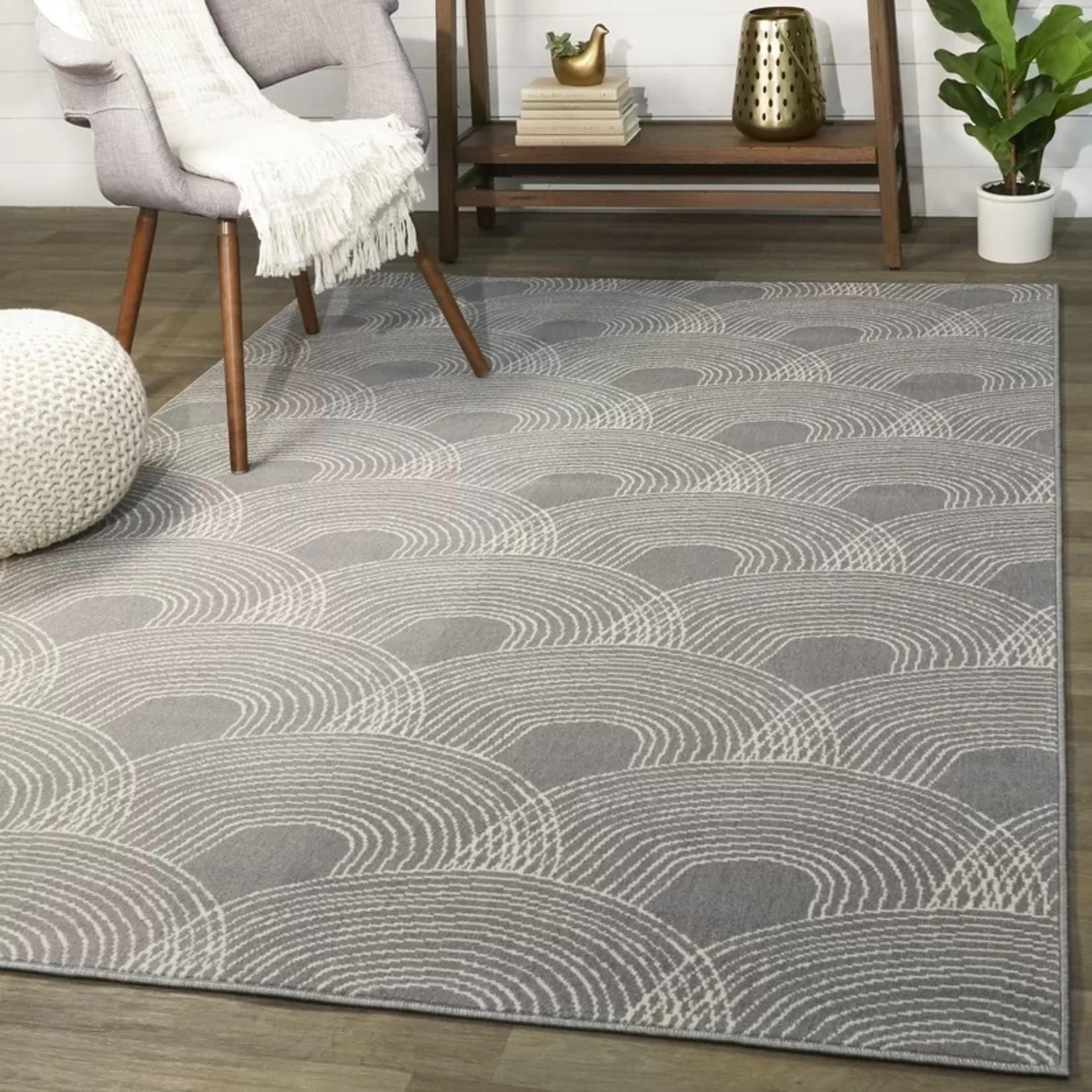 *8' x 10'2 - Jakayla Grey Contemporary Area Rug