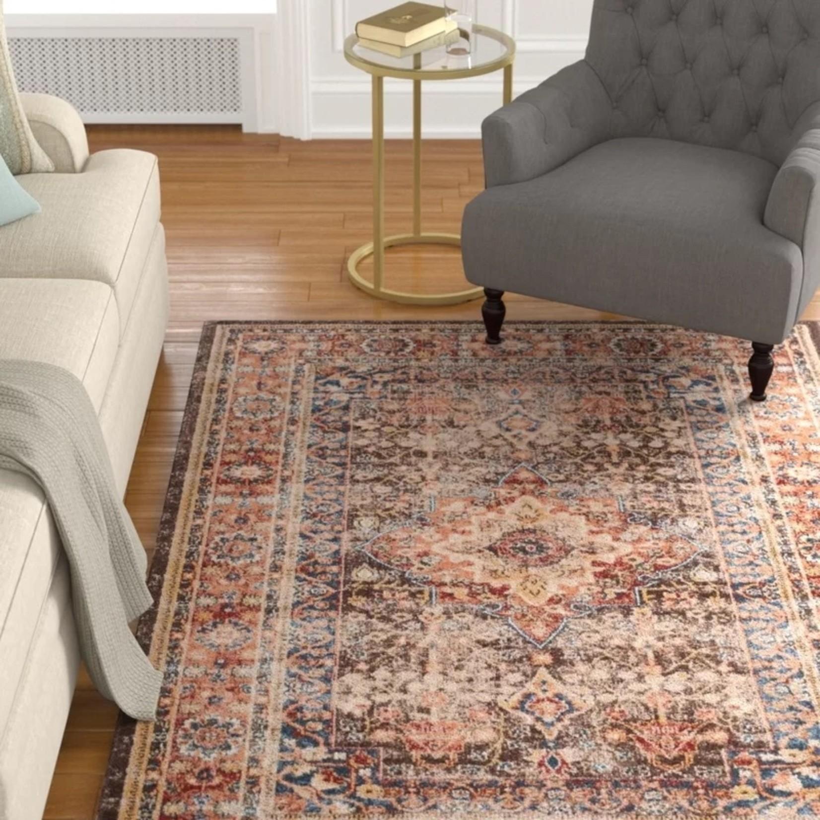 *5'3 x 7'6 - Broomhedge Oriental Brown Area Rug