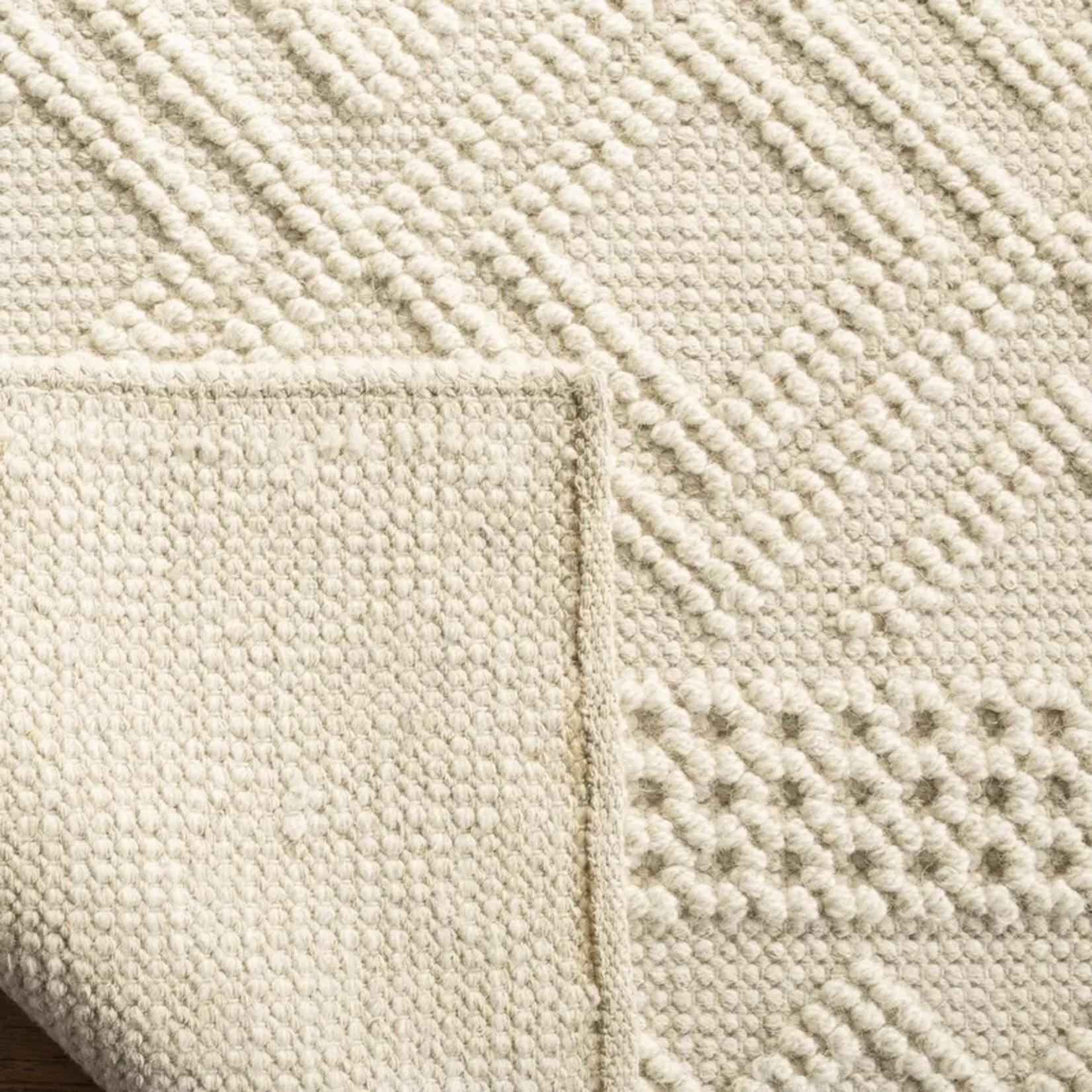 *4' x 6' - Xamiera Hand-Tufted Wool/Cotton Ivory Area Rug
