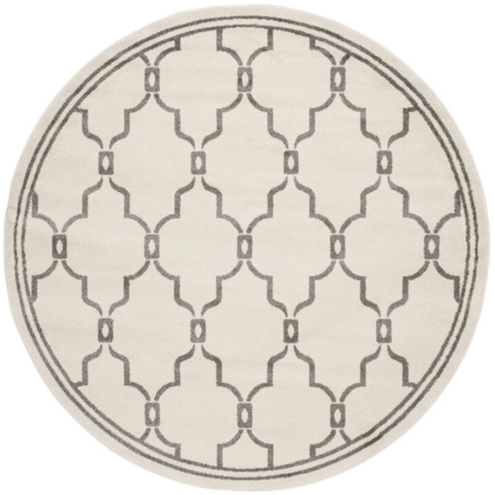 * 7' Round - Wason Geometric Ivory/Grey Area Rug