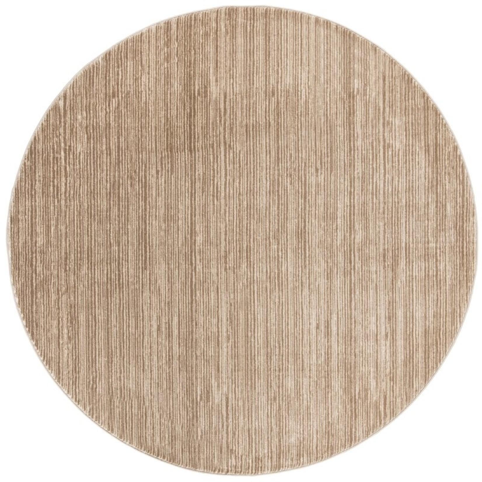 *5' Round - Harloe Light Brown Area Rug