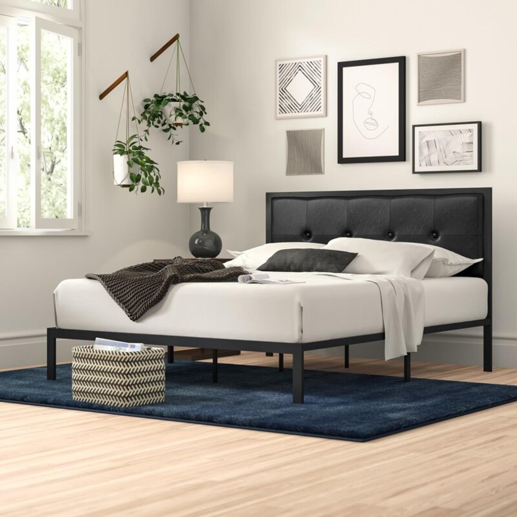*Full - Brookneal Tufted Upholstered Platform Bed - Black