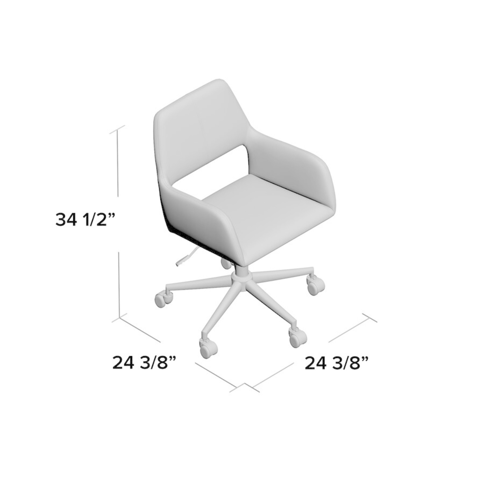 *Elliana Velvet Task Chair - Slight Damage On Seat