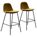 *Avers Counter Stools - Vintage Gold - Set of 2