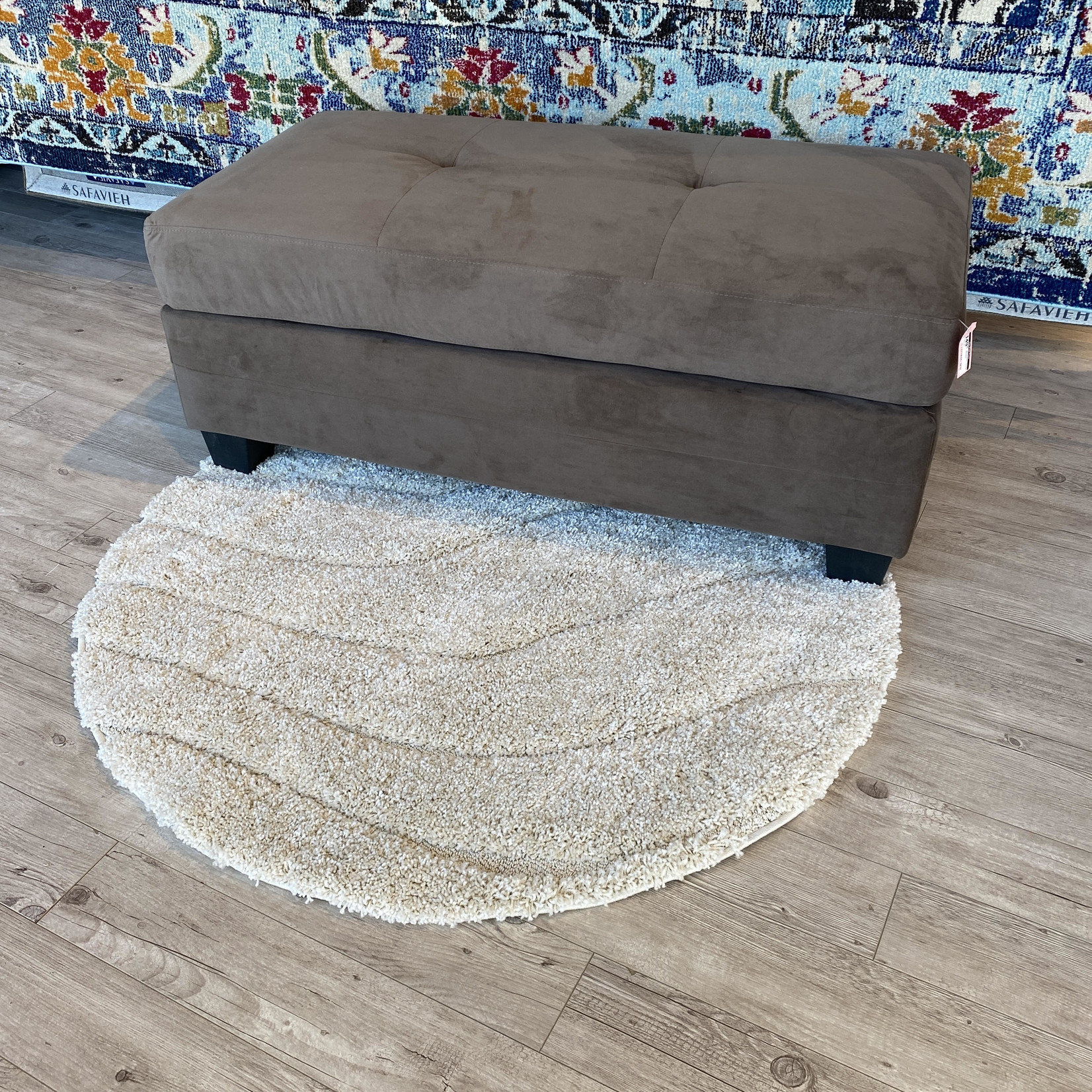 *St Catherine Cocktail Ottoman - Brown