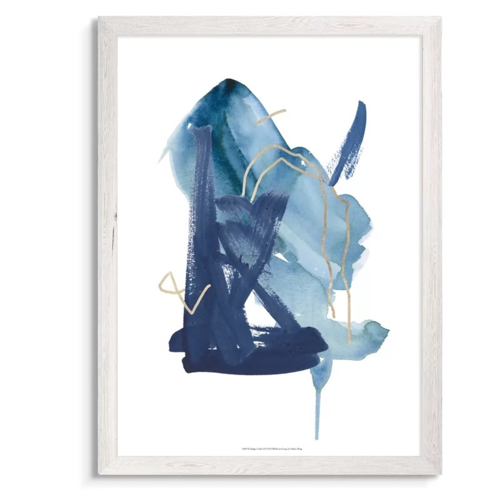 *Indigo Collide II' by Paul Cezanne - Picture Frame Painting Print - 32 X 24